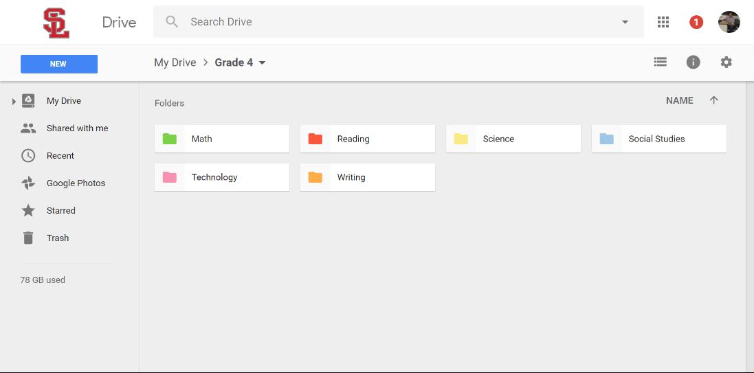 Drive Grade Level Folders